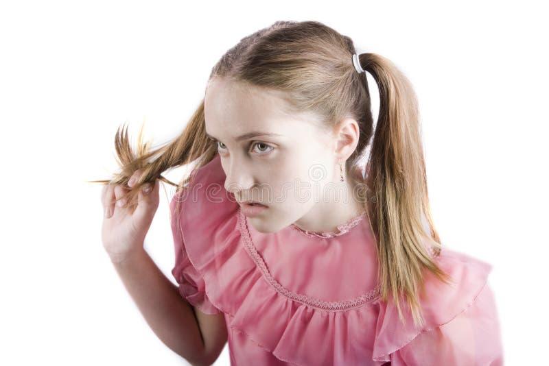 Chica joven malcriada fotos de archivo