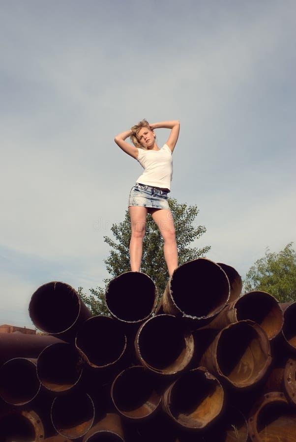 Chica joven sexual foto de archivo libre de regalías