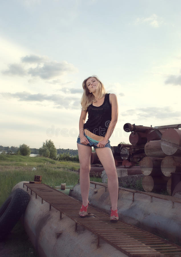 Chica joven sexual fotos de archivo