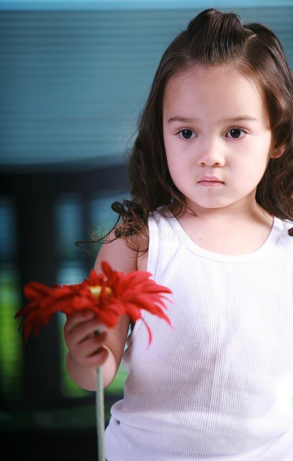 Chica joven triste fotografía de archivo