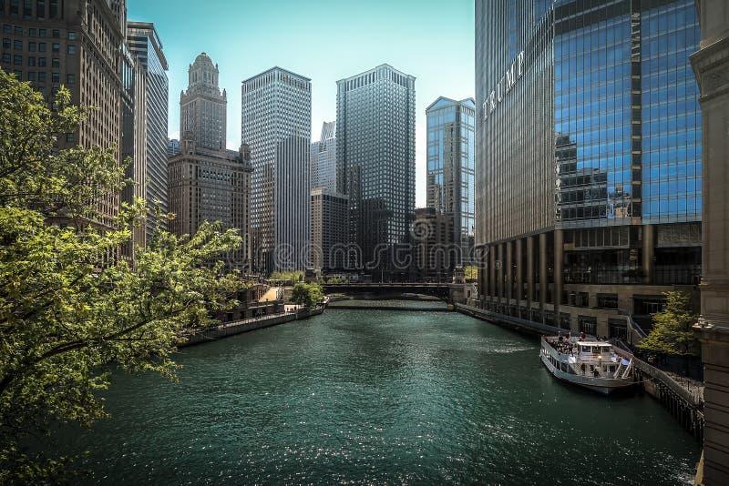 Chicago湖密执安湖 图库摄影