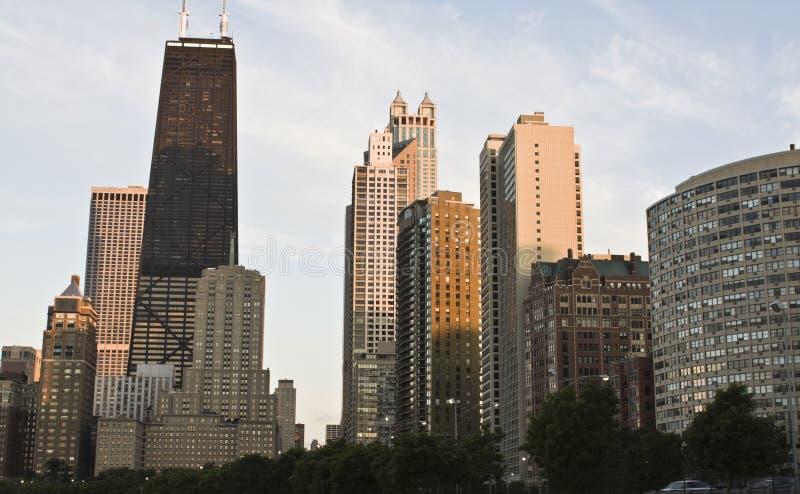 chicago śródmieścia północna strona obrazy royalty free