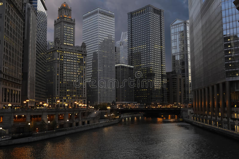 chicago śródmieście fotografia royalty free