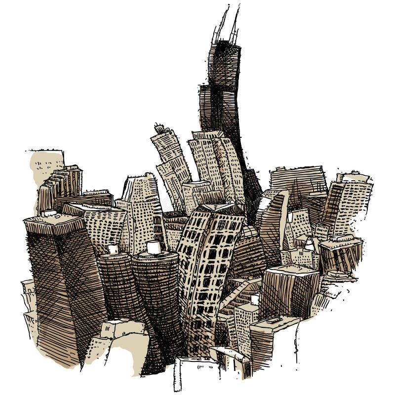 chicago шаткий иллюстрация штока