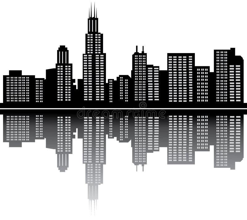 chicago royaltyfri illustrationer