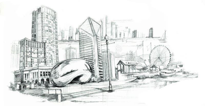 Chicago illustration de vecteur