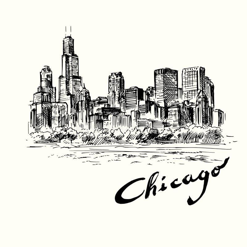 chicago ilustração royalty free