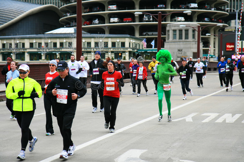 Chicago 8K Shamrock Shuffle Editorial Stock Photo