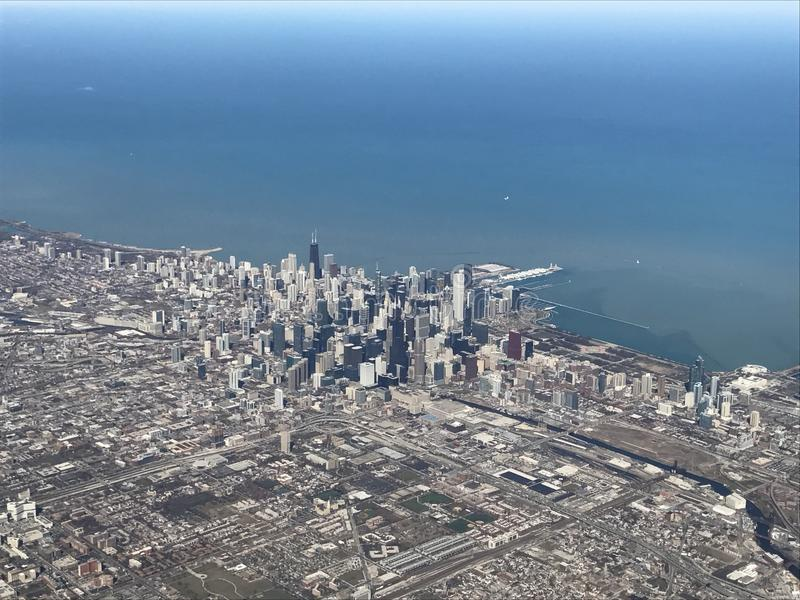 Chicago from air stock photos