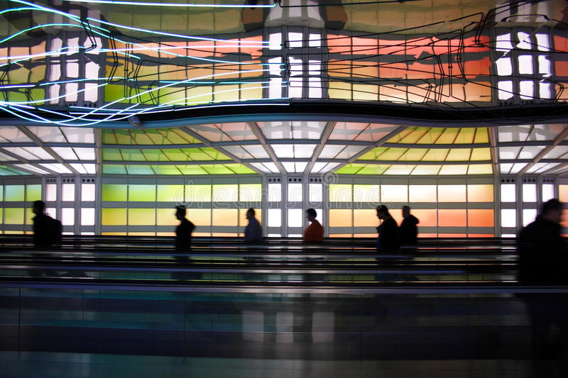 Chicago airport stock photography
