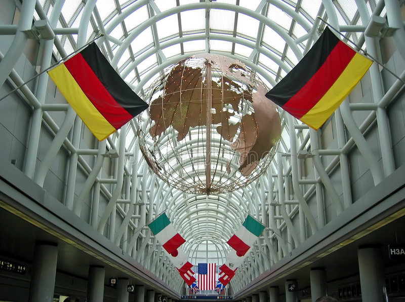 Chicago Airport stock photo