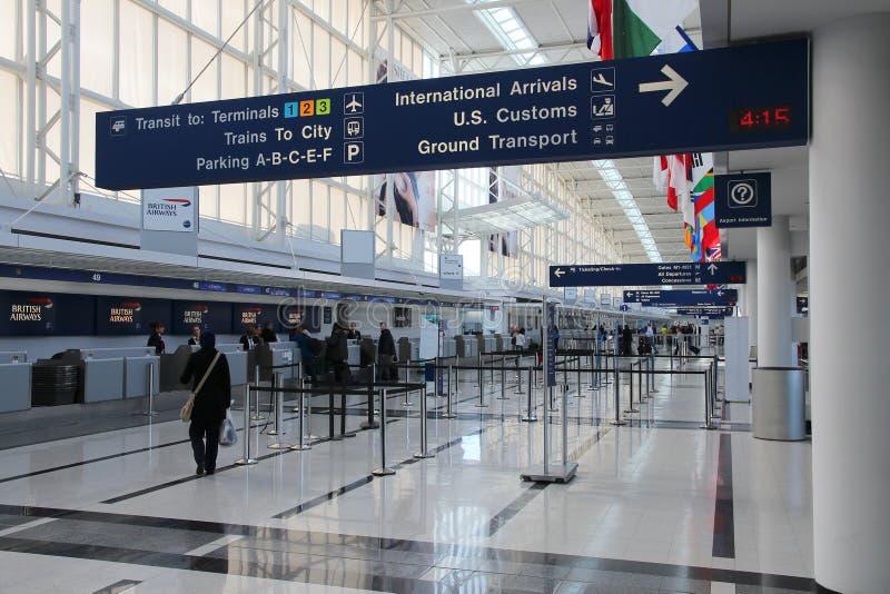 Chicago Airport stock photo