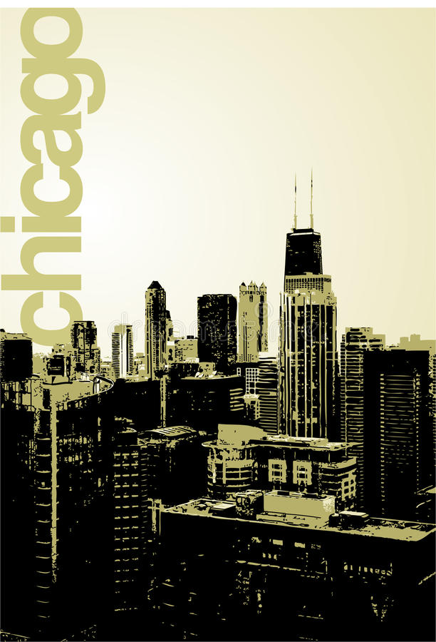 Chicago - alternative Skyline stock abbildung