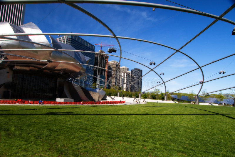 Chicago amfiteatru millineum park obrazy royalty free