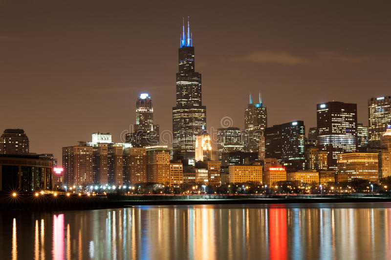 Download Chicago Participates In Autism Speaks Light It Up Editorial Photo - Image of skyline, illinois: 30246641