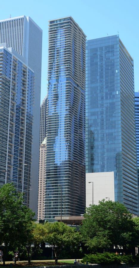 Chicago Aqua Building imagen de archivo libre de regalías