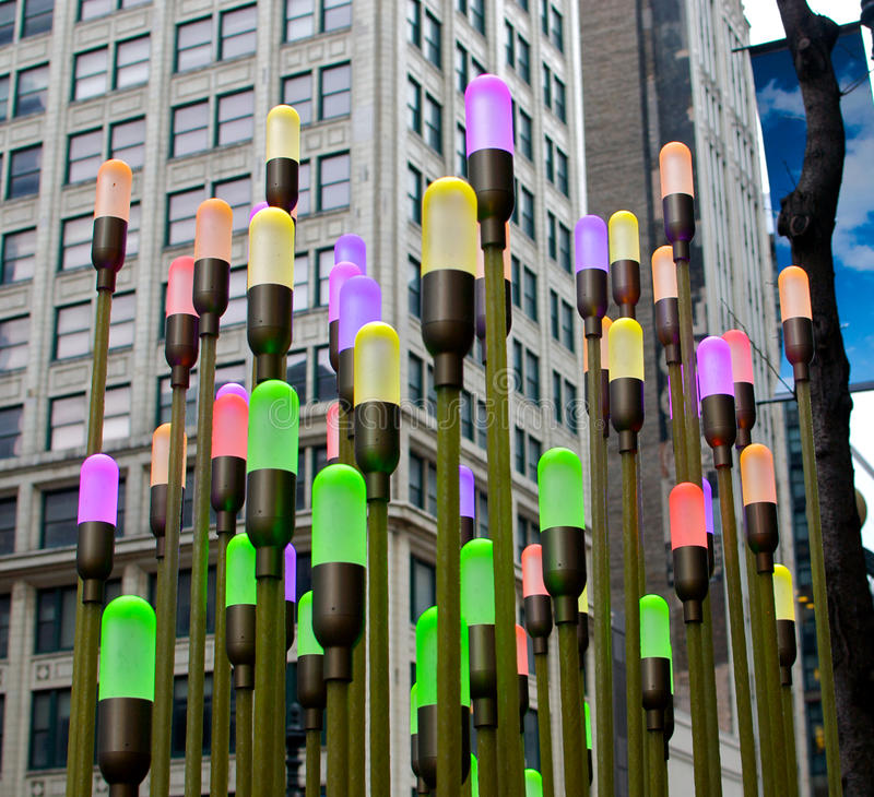 Chicago Art Installation royalty free stock photography