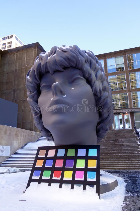 Chicago art installation royalty free stock images