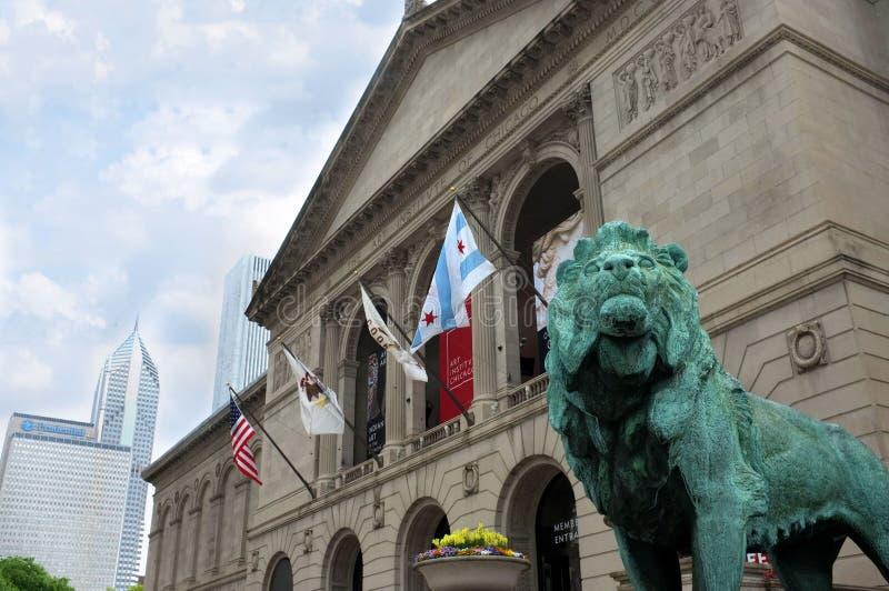 Chicago Art Institute fotografering för bildbyråer