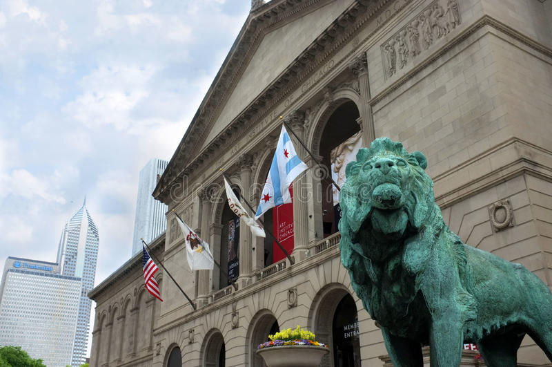 Chicago Art Institute stock image