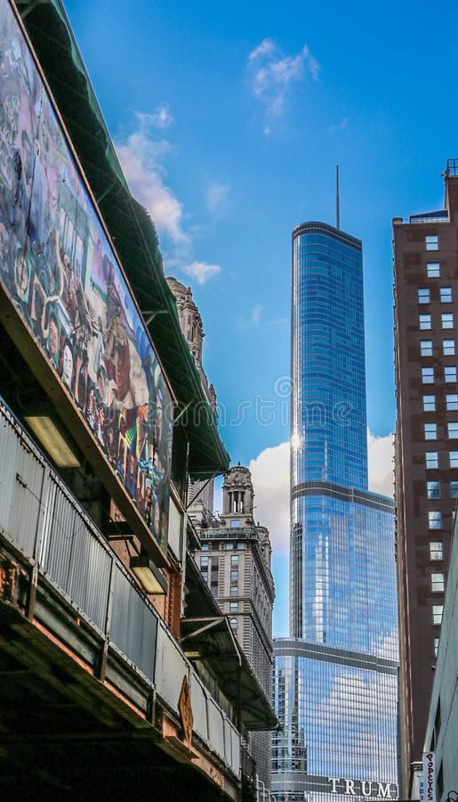 Chicago artists royalty free stock photo