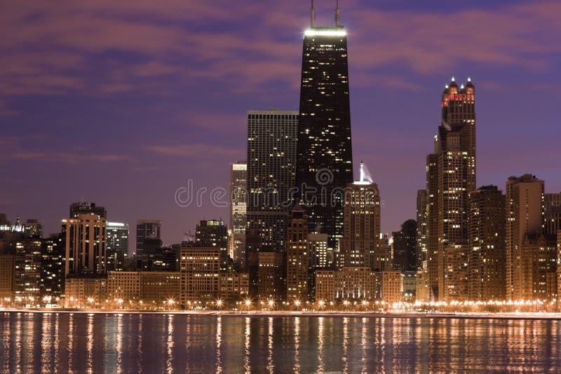 Chicago através do lago foto de stock royalty free