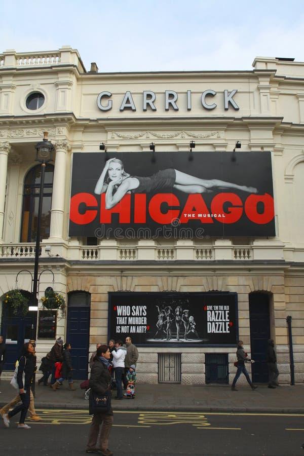 Chicago au théâtre de Garrick à Londres photos stock