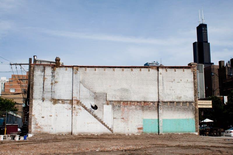 Chicago Banksy Met fouten stock foto's