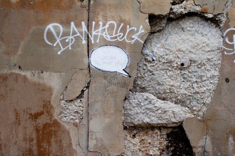 Chicago Banksy, vous concret je, saccagé photos stock