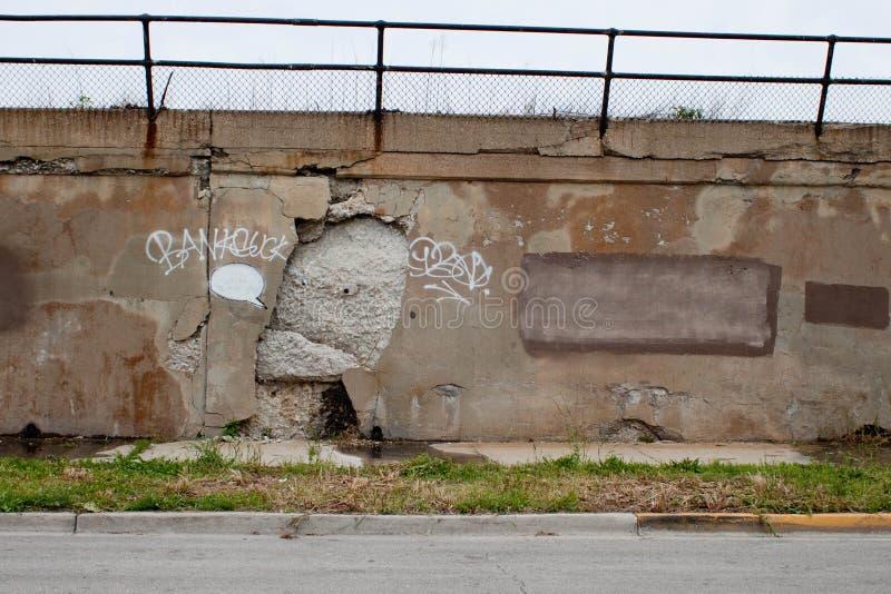 Chicago Banksy, vous concret je, saccagé image stock