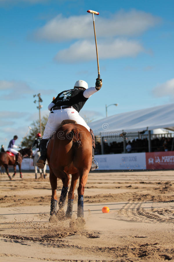 Download Chicago Beach Polo editorial photography. Image of play - 21410912