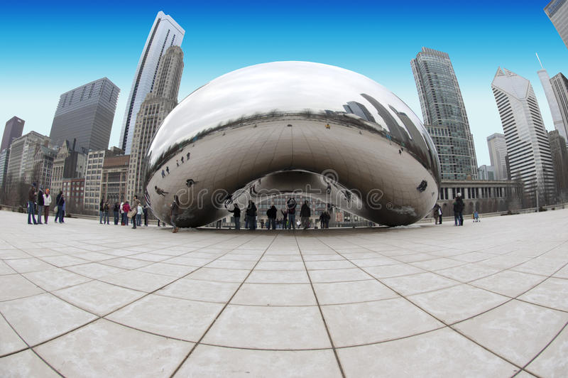 Chicago Bean Art Installation royalty free stock images
