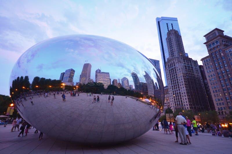 Chicago Bean stock photography