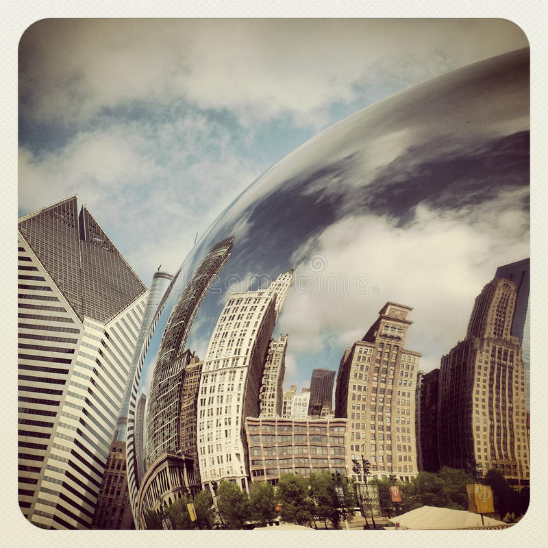 Download Chicago bean editorial stock image. Image of city, attraction - 31501959