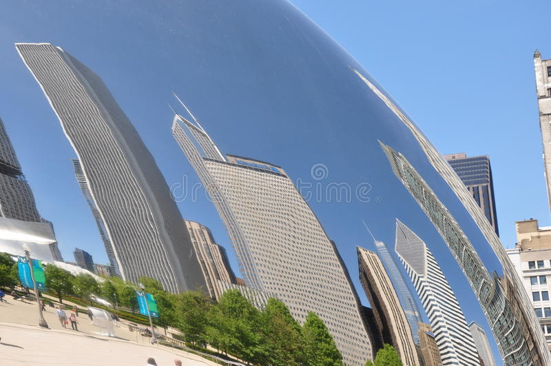 Chicago Bean And Reflections Editorial Stock Image