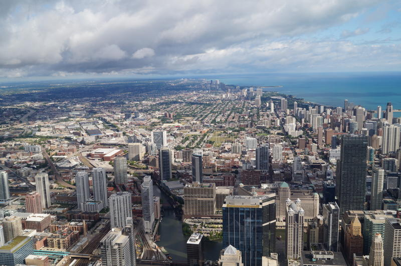 Download Chicago editorial stock image. Image of birdseye, sears - 33629159