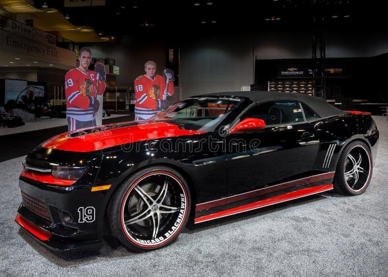 Chicago Blackhawks 2014 Camaro royaltyfri foto