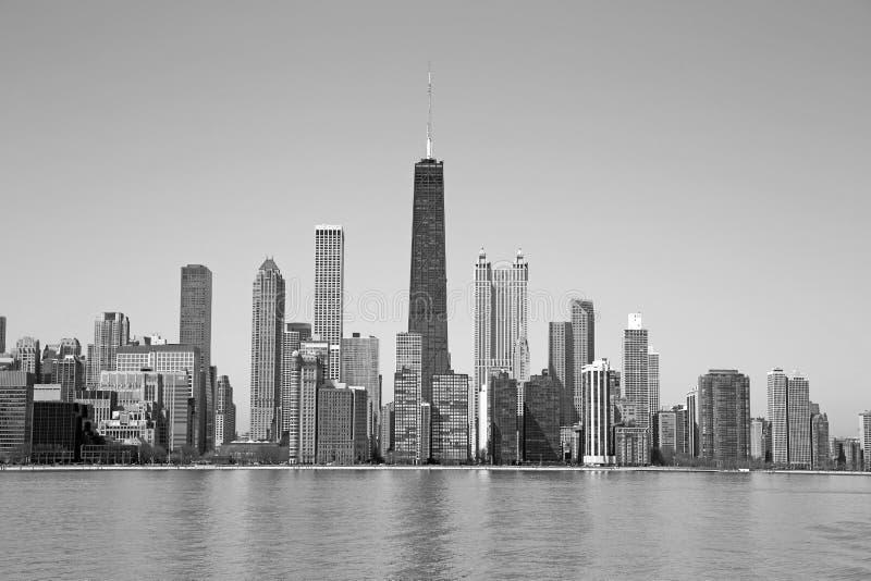 Chicago blanco y negro fotos de archivo