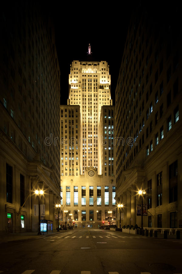 Chicago board of trade building stock photo