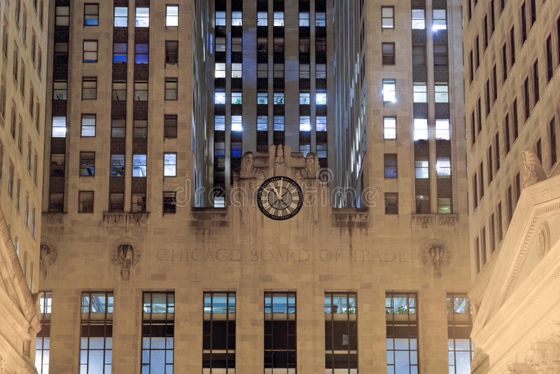 Download chicago board of trade building at night stock photo image of cbot states