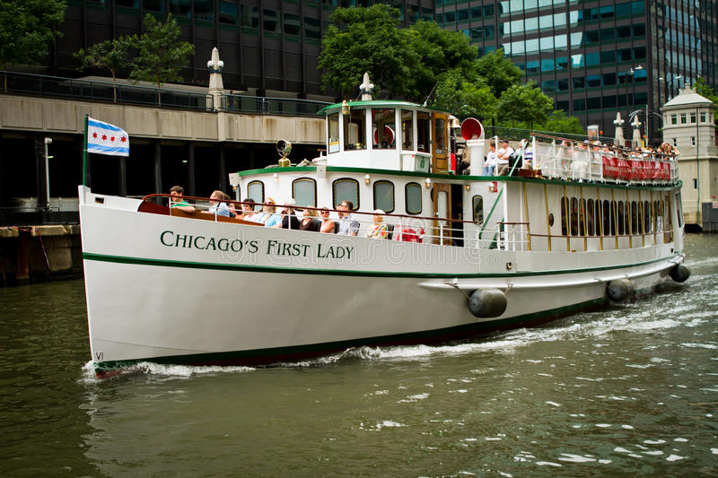 Chicago boat tour royalty free stock photo