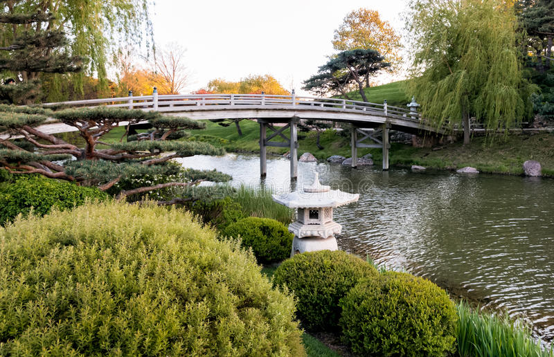 Delightful Chicago Botanic Garden, Bridge To Japanese Garden