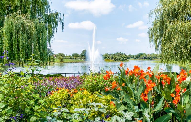 Chicago botanisk trädgård, USA arkivfoton