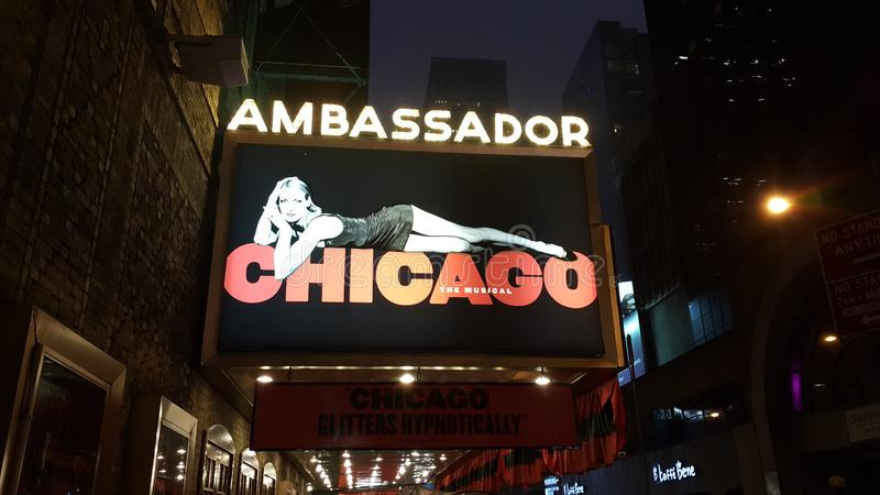 Chicago the broadway musical stock photo