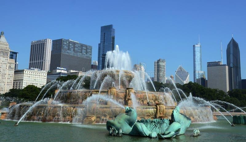 Chicago Buckingham fontanna zdjęcia royalty free
