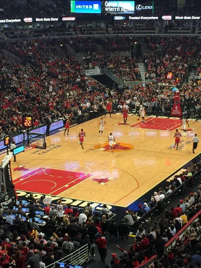 Chicago Bulls die Los Angeles Lakers spelen stock foto