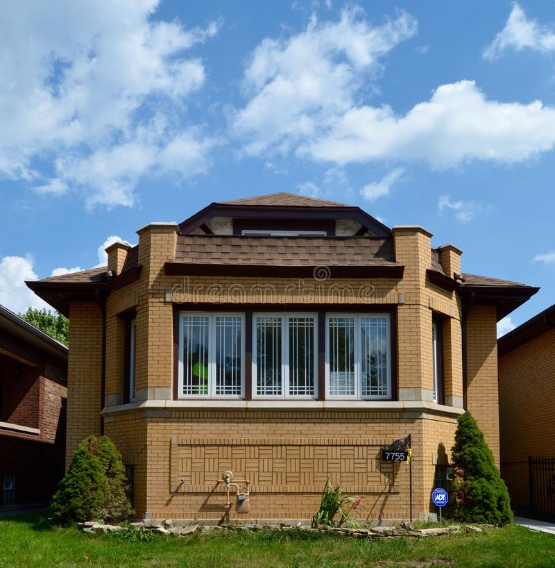 Chicago Bungalow editorial photo. Image of historic, added - 58893441