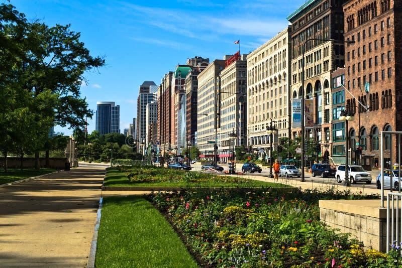 Chicago céntrica foto de archivo libre de regalías