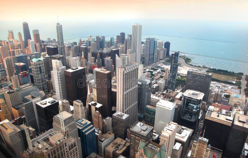 Chicago céntrica, los E.E.U.U. imagenes de archivo