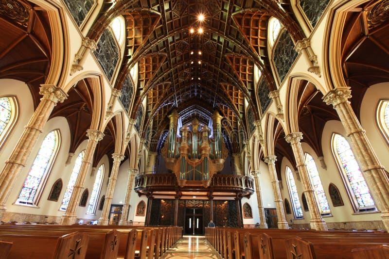 Chicago - catedral conhecida santamente fotografia de stock